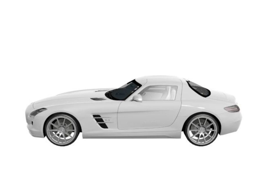 Merceds_SLS_AMG royalty-free 3d model - Preview no. 2