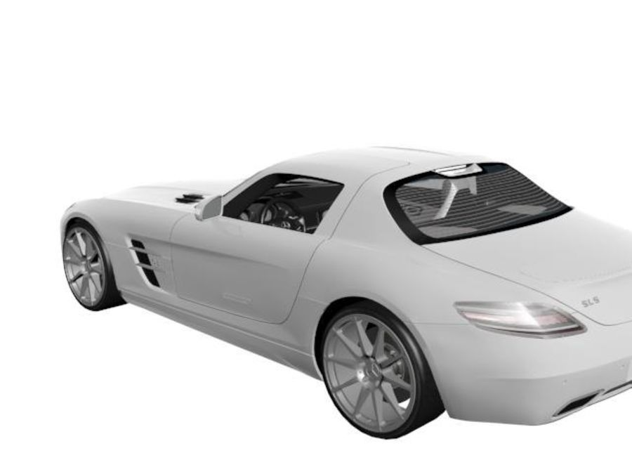 Merceds_SLS_AMG royalty-free 3d model - Preview no. 3