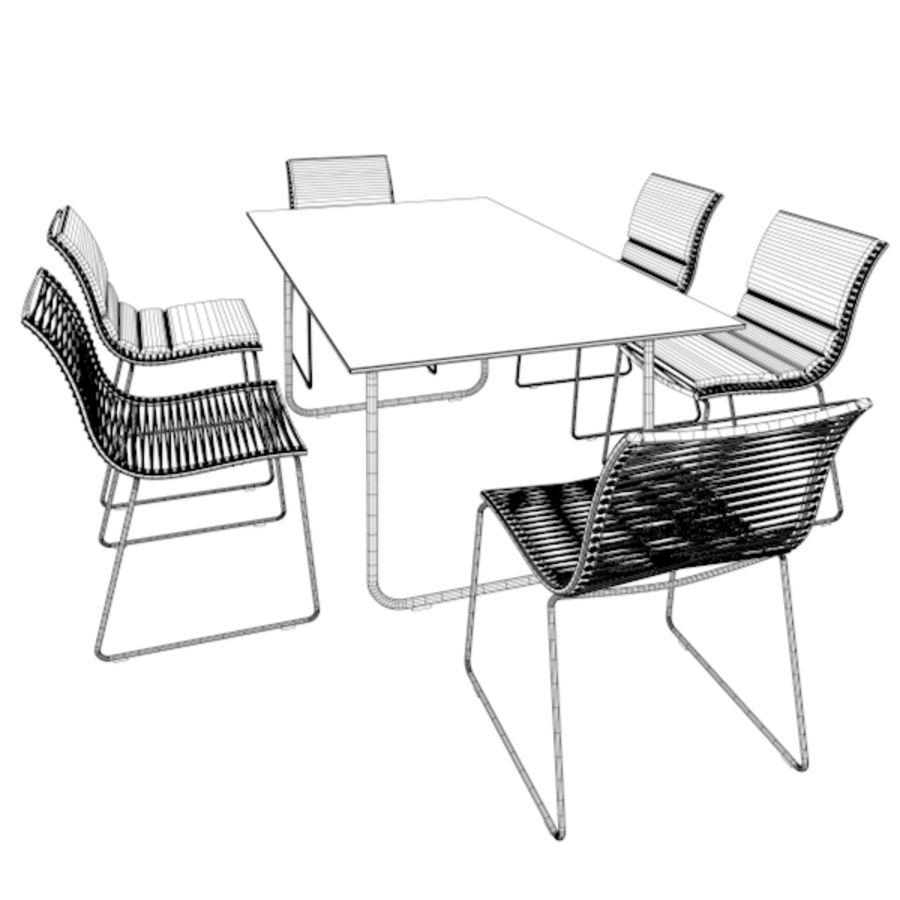 Filigree Möbel Set 02 royalty-free 3d model - Preview no. 6