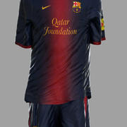 Soccer Kits - Animated (Barcelona) 3d model