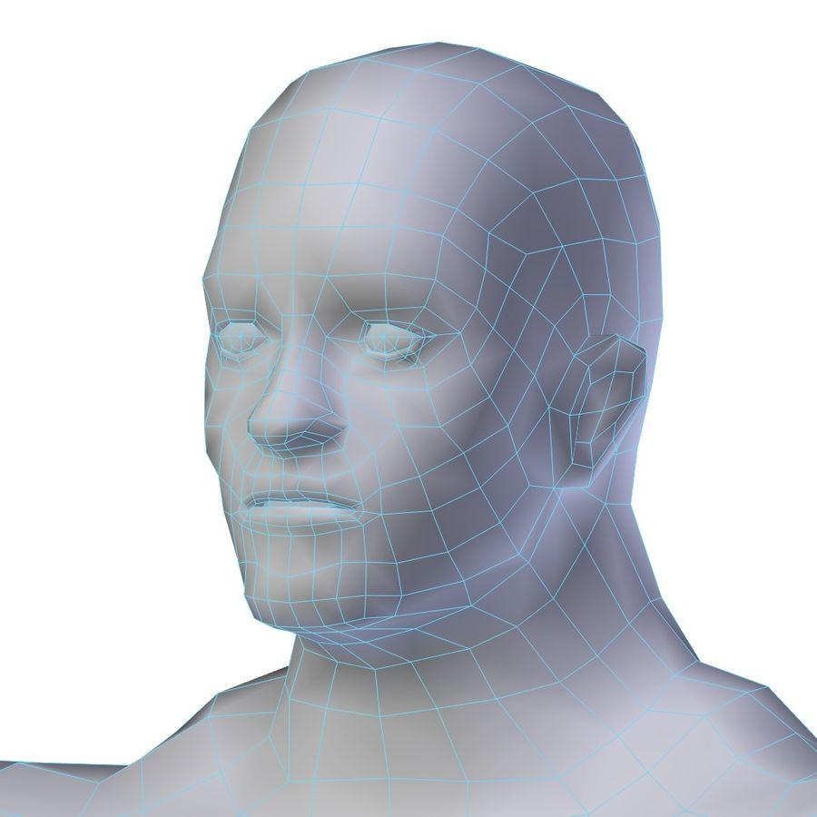 Muscular Man Base Mesh LOW POLY royalty-free 3d model - Preview no. 5