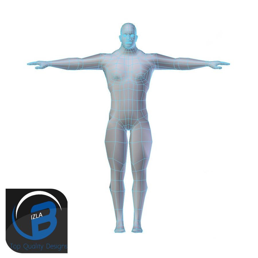 Muscular Man Base Mesh LOW POLY royalty-free 3d model - Preview no. 1