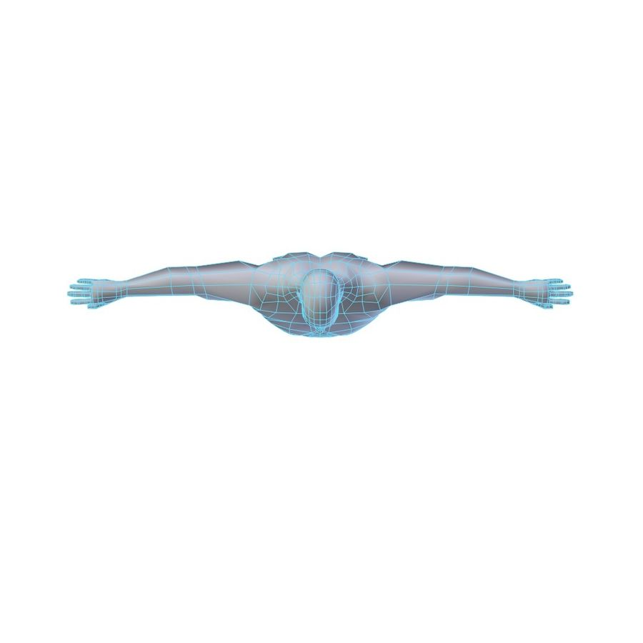 Muscular Man Base Mesh LOW POLY royalty-free 3d model - Preview no. 4