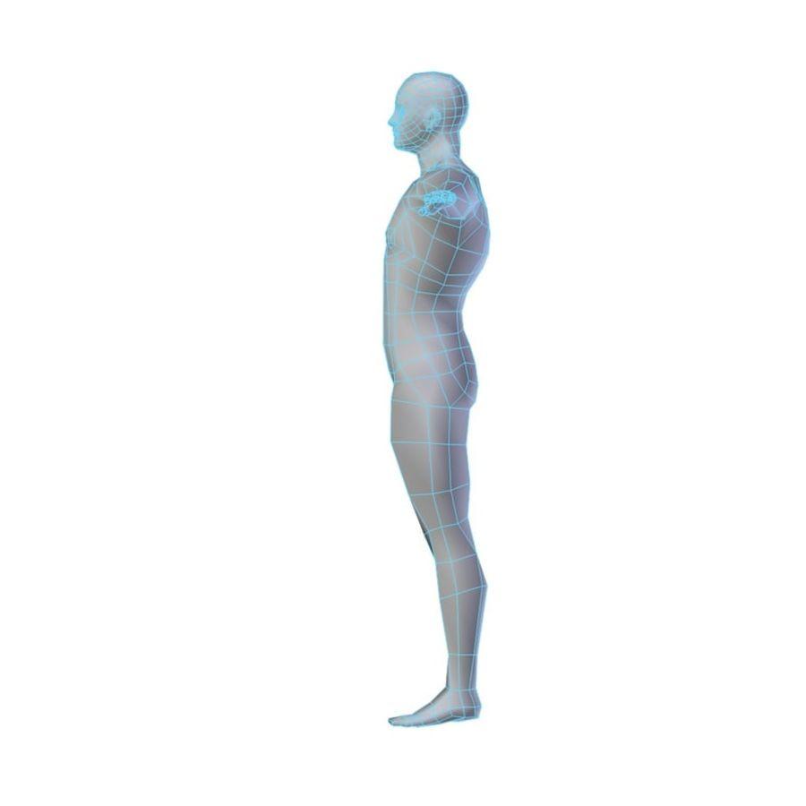 Muscular Man Base Mesh LOW POLY royalty-free 3d model - Preview no. 2