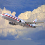 aerolíneas americanas modelo 3d