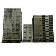 Låg Polybyggnader 4 3d model
