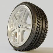 Wheel (rim and tyre) 3d model