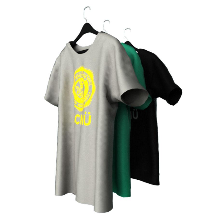 Camiseta en percha royalty-free modelo 3d - Preview no. 3