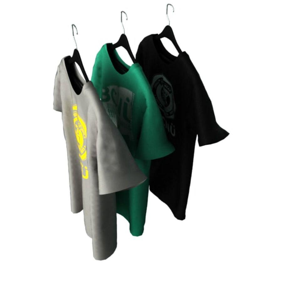 Camiseta en percha royalty-free modelo 3d - Preview no. 4