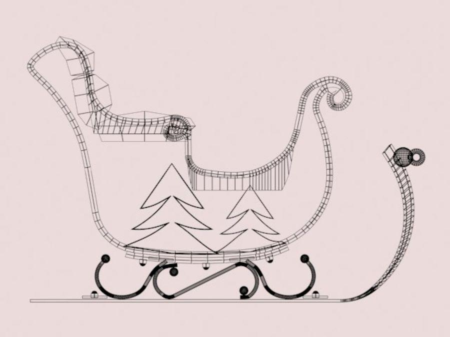 Père Noël en traîneau royalty-free 3d model - Preview no. 7