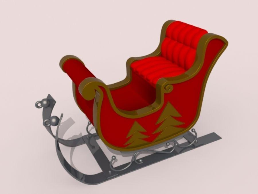 サンタクロースのそり royalty-free 3d model - Preview no. 2