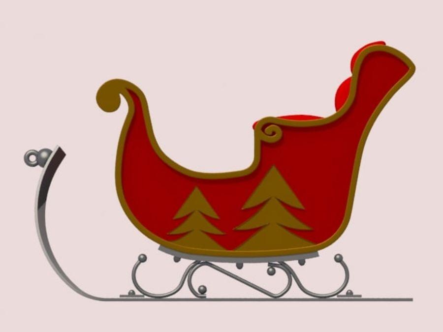 Père Noël en traîneau royalty-free 3d model - Preview no. 4