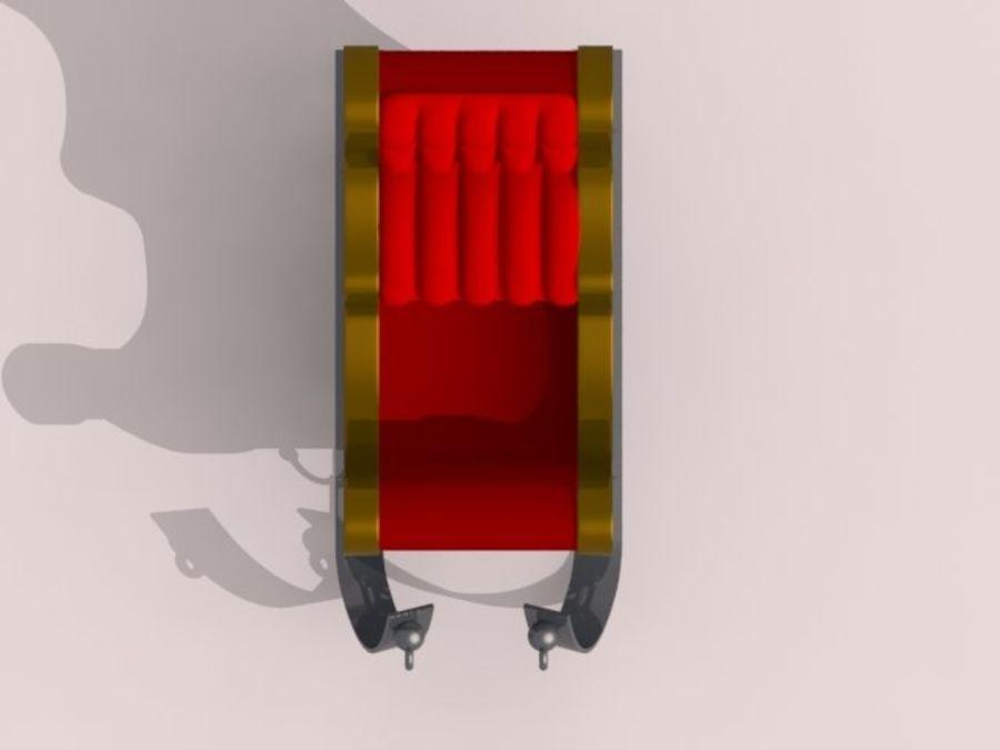 Père Noël en traîneau royalty-free 3d model - Preview no. 5