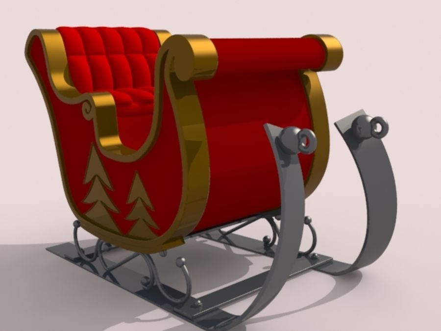 サンタクロースのそり royalty-free 3d model - Preview no. 1