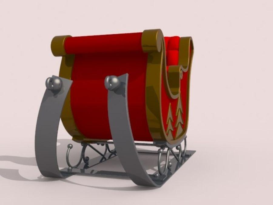 Père Noël en traîneau royalty-free 3d model - Preview no. 3