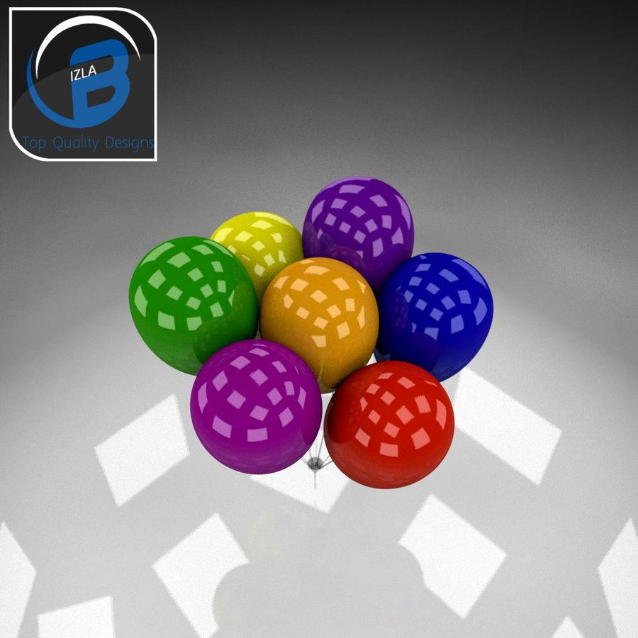 Bouquet de ballons royalty-free 3d model - Preview no. 3