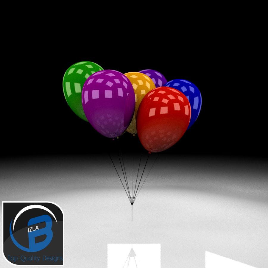Bouquet de ballons royalty-free 3d model - Preview no. 1