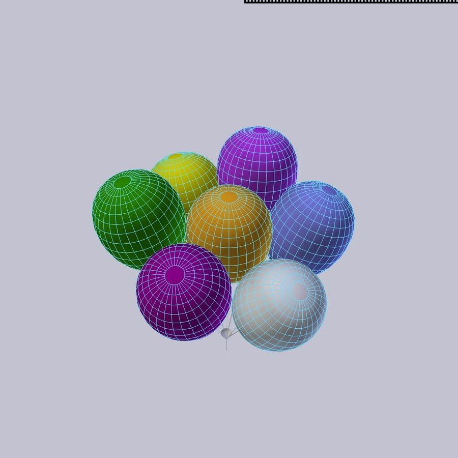 Bouquet de ballons royalty-free 3d model - Preview no. 4