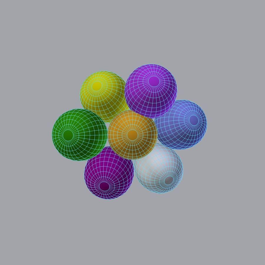 Bouquet de ballons royalty-free 3d model - Preview no. 6