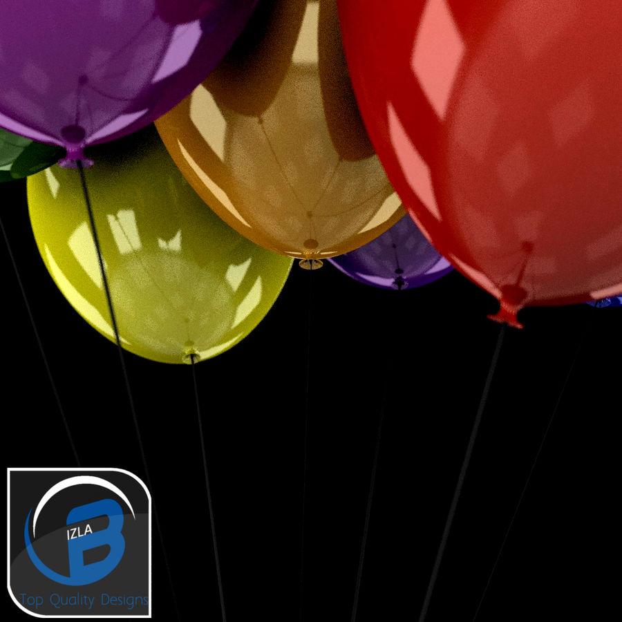 Bouquet de ballons royalty-free 3d model - Preview no. 7