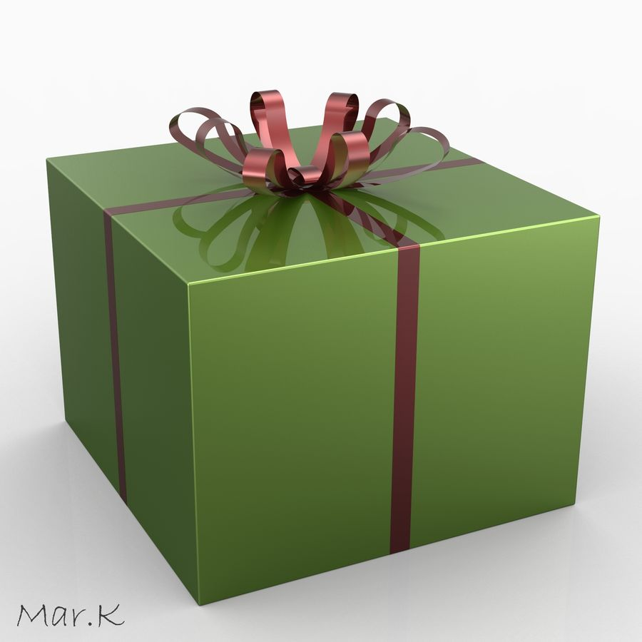 Geschenkbox royalty-free 3d model - Preview no. 1