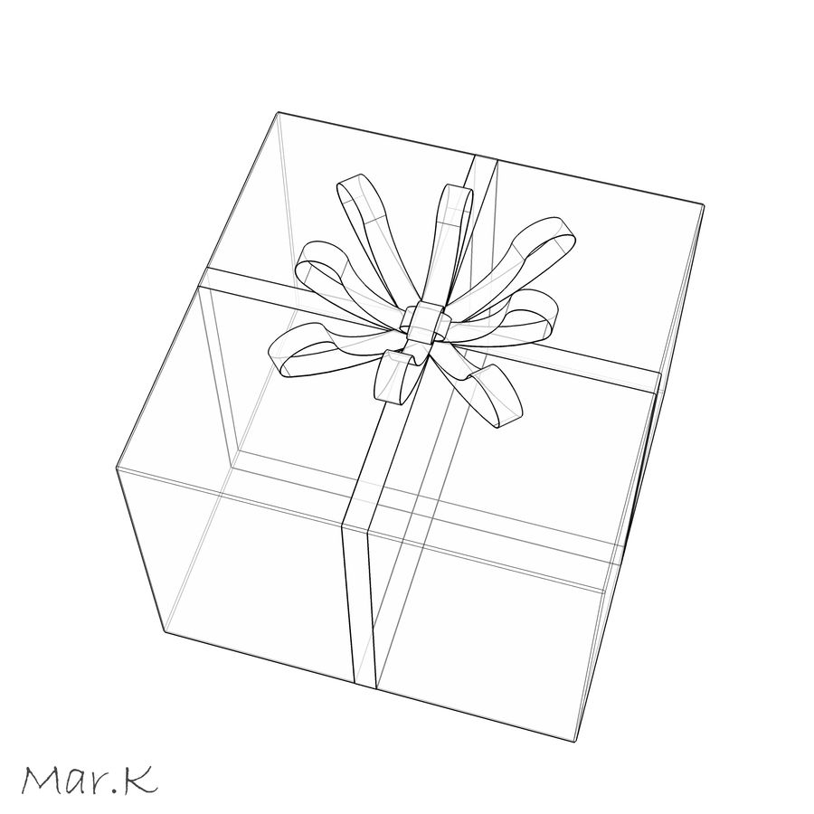 Geschenkbox royalty-free 3d model - Preview no. 6