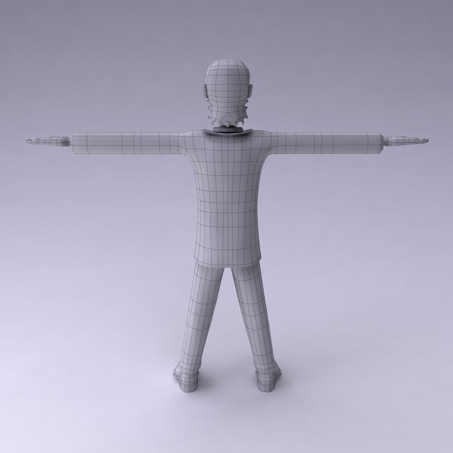 Man Character royalty-free 3d model - Preview no. 11