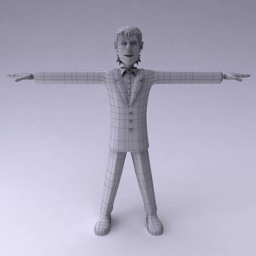 Man Character royalty-free 3d model - Preview no. 9