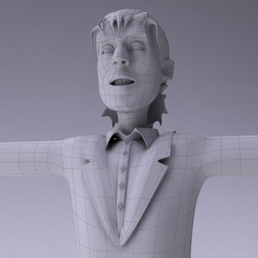 Man Character royalty-free 3d model - Preview no. 10