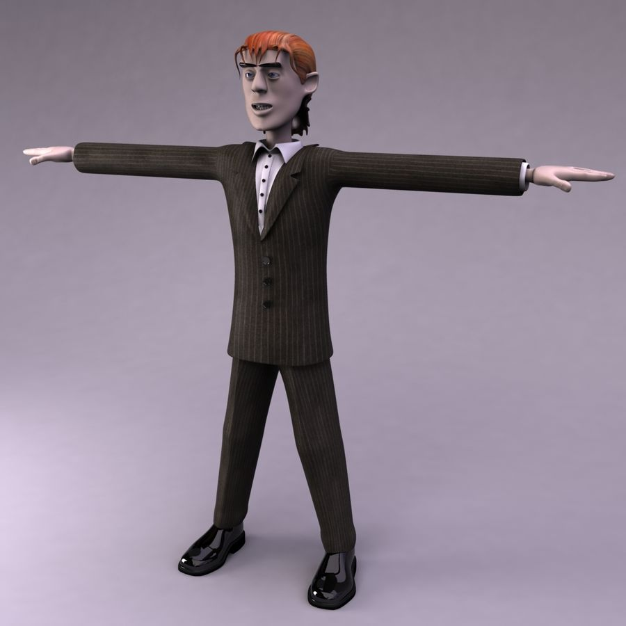 Man Character royalty-free 3d model - Preview no. 4