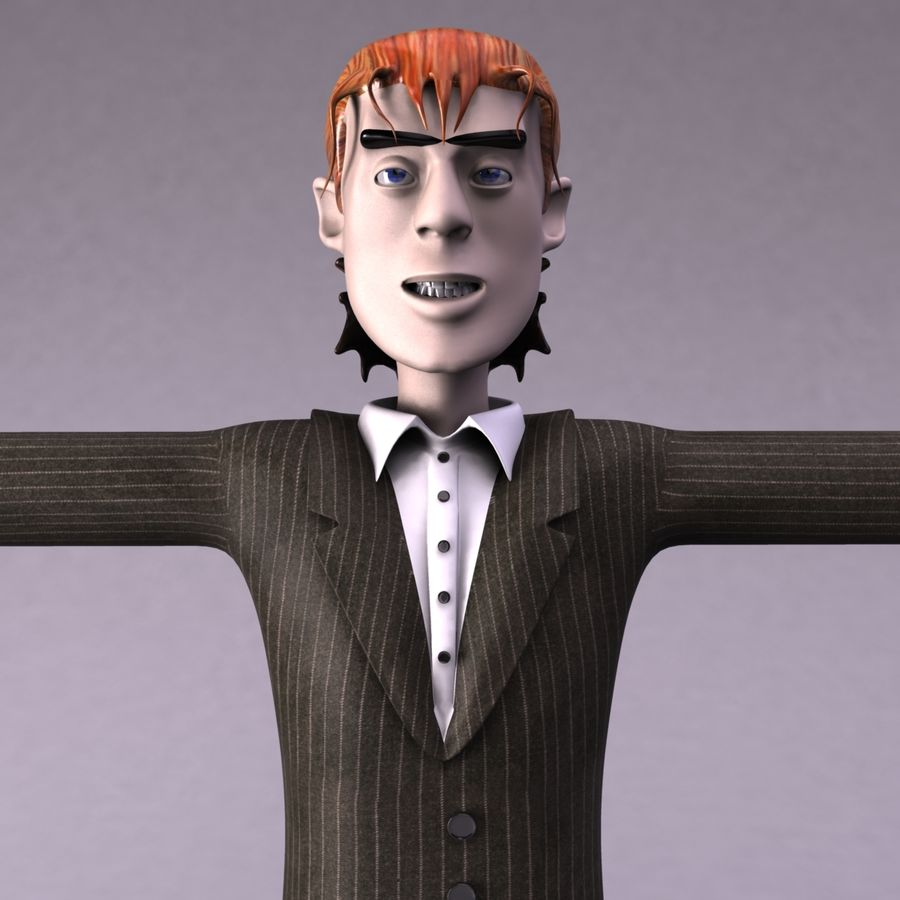 Man Character royalty-free 3d model - Preview no. 3