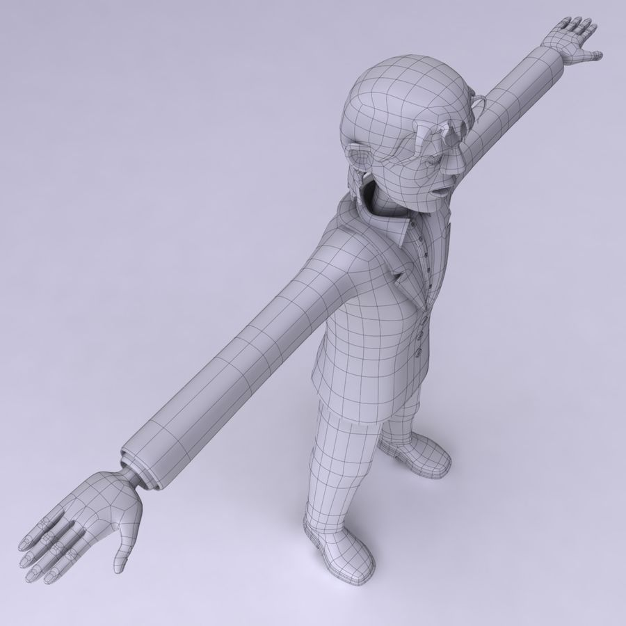Man Character royalty-free 3d model - Preview no. 12