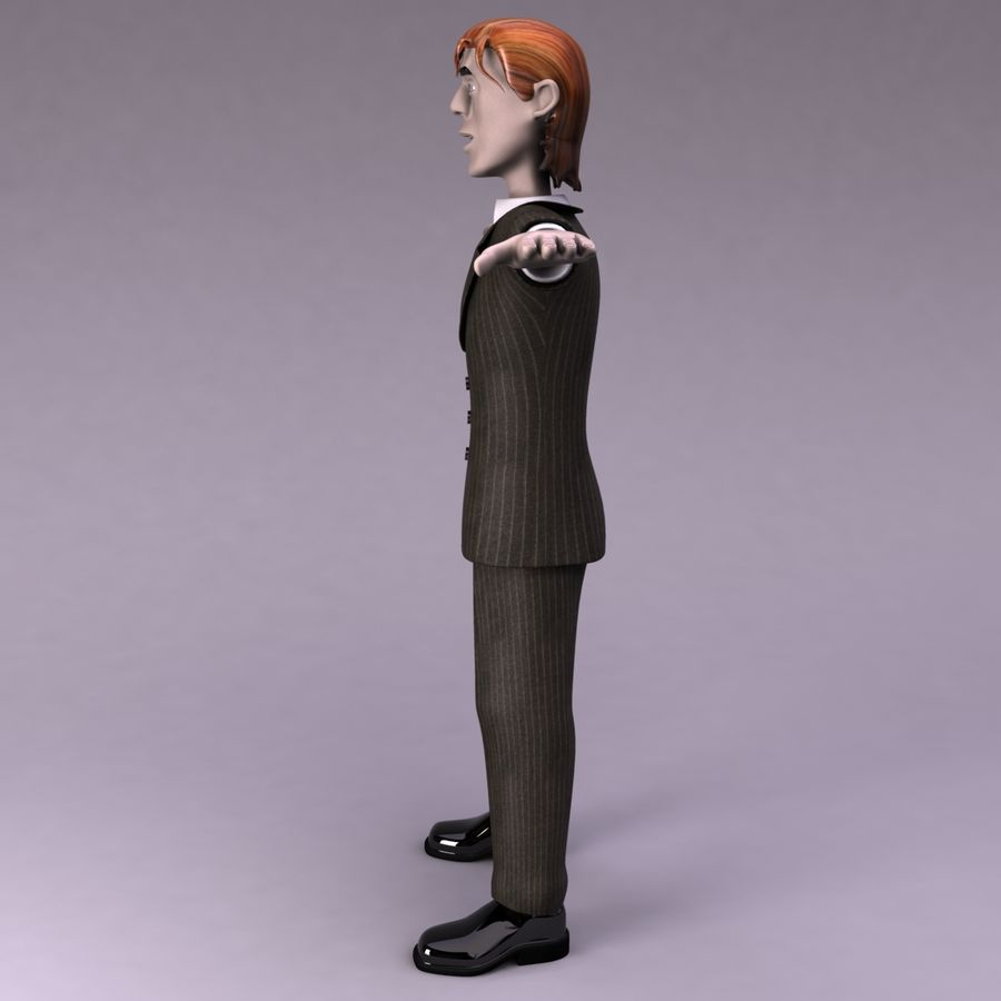 Man Character royalty-free 3d model - Preview no. 7