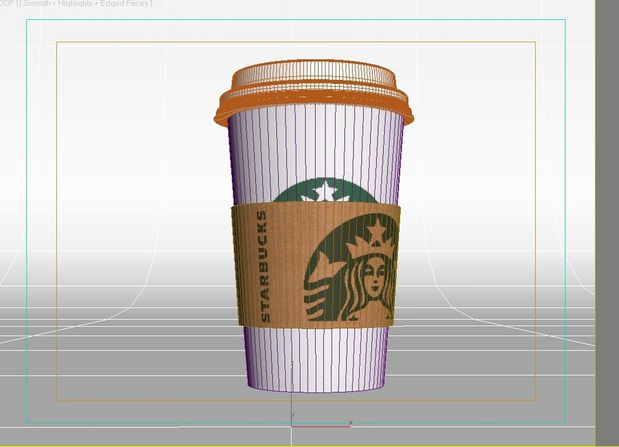 Starbucks paper Cup royalty-free 3d model - Preview no. 5