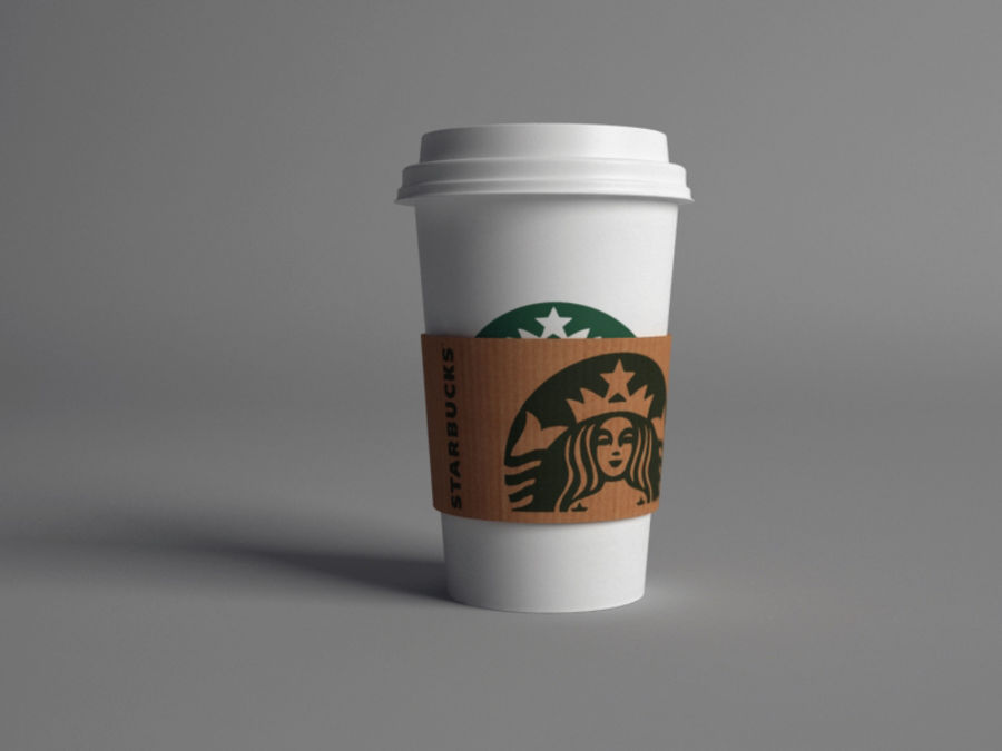 Starbucks paper Cup royalty-free 3d model - Preview no. 1
