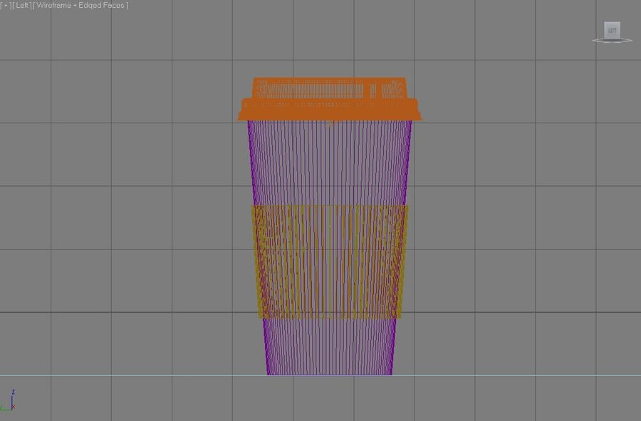 Starbucks paper Cup royalty-free 3d model - Preview no. 4