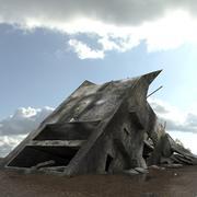 손상된 건물 3d model