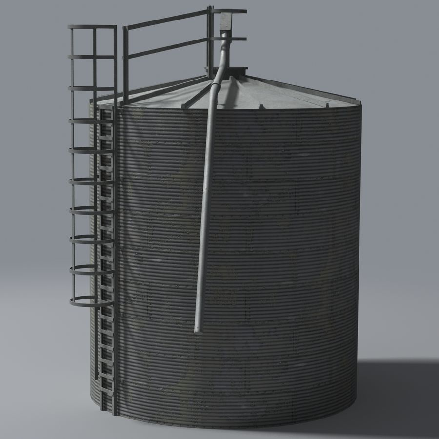 Silos royalty-free 3d model - Preview no. 4