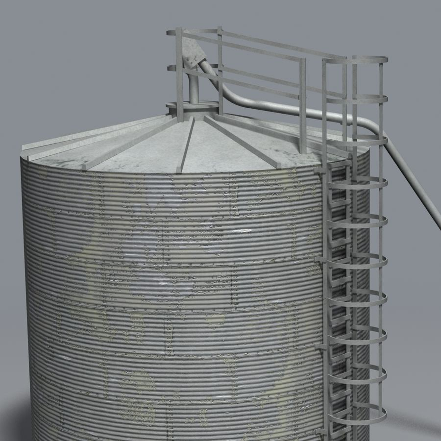 Silos royalty-free 3d model - Preview no. 3