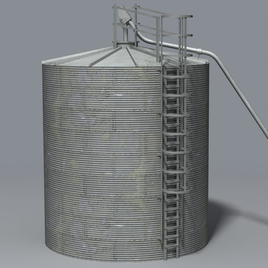 Silos royalty-free 3d model - Preview no. 1