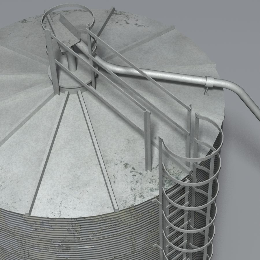 Silos royalty-free 3d model - Preview no. 6