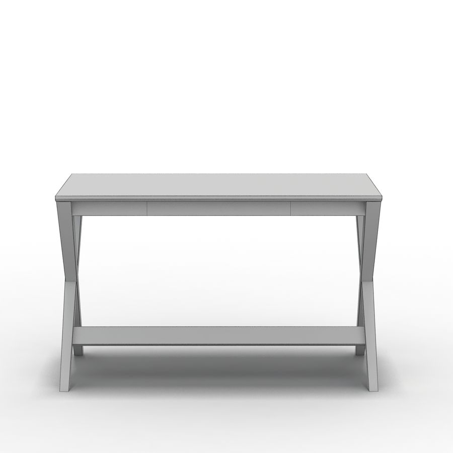 "Sandık ve Fıçı - Spotlight Ebony 58 ""Desk (2) royalty-free 3d model - Preview no. 11"