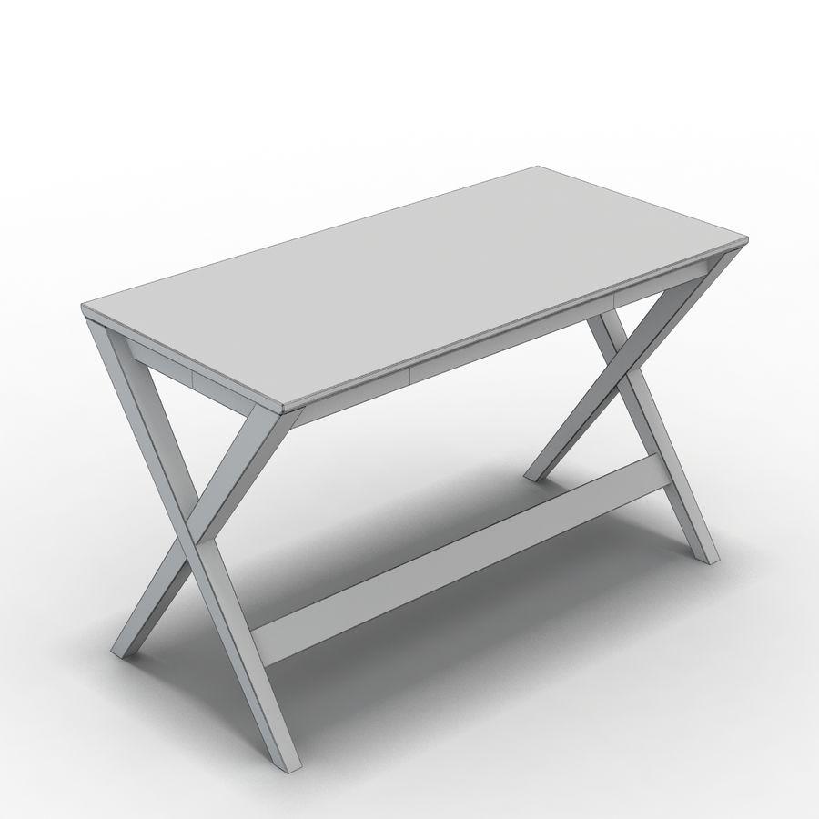 "Sandık ve Fıçı - Spotlight Ebony 58 ""Desk (2) royalty-free 3d model - Preview no. 6"