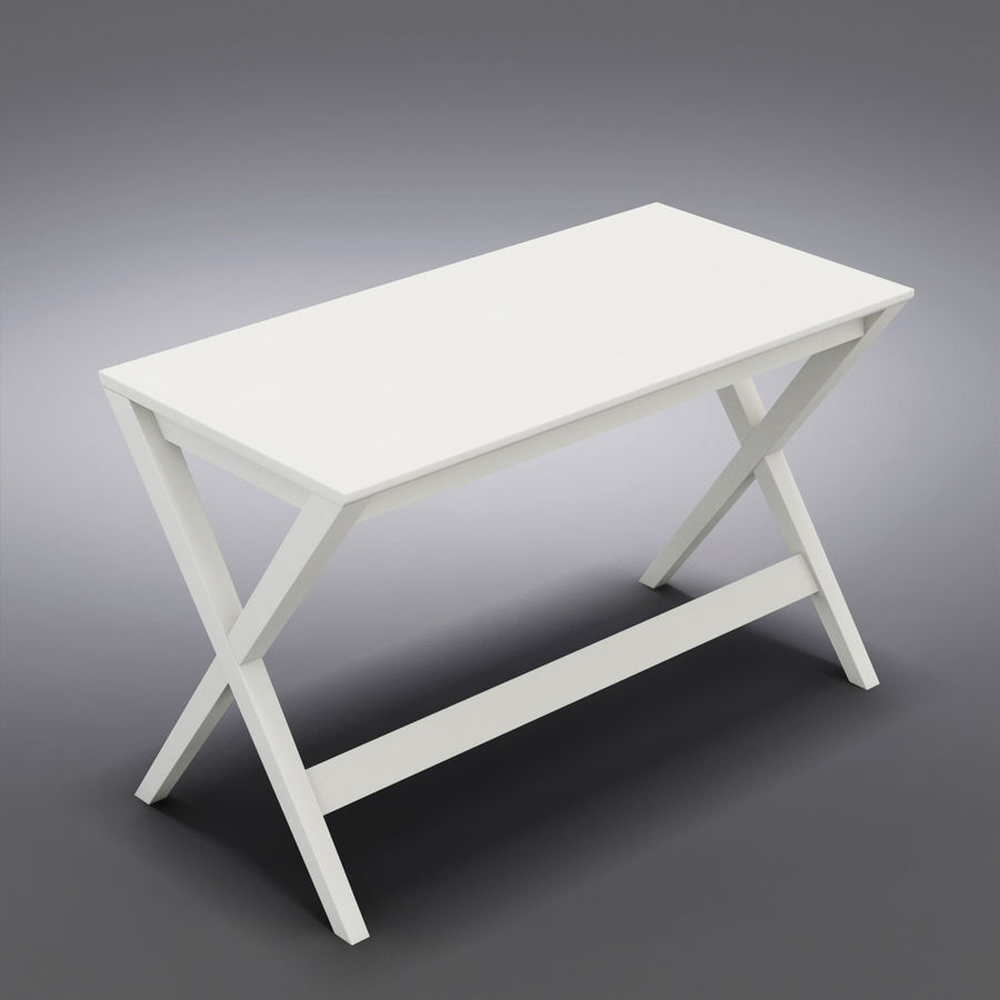 "Sandık ve Fıçı - Spotlight Ebony 58 ""Desk (2) royalty-free 3d model - Preview no. 7"