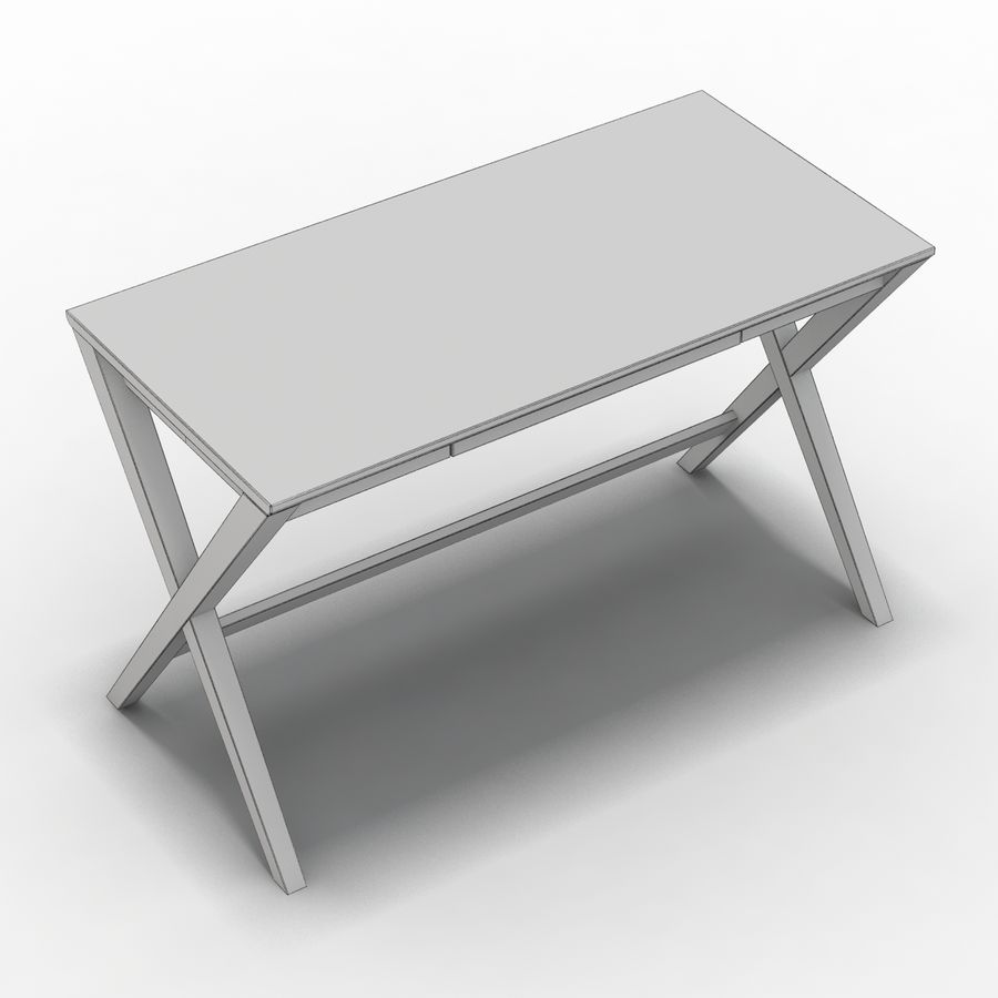 "Sandık ve Fıçı - Spotlight Ebony 58 ""Desk (2) royalty-free 3d model - Preview no. 10"
