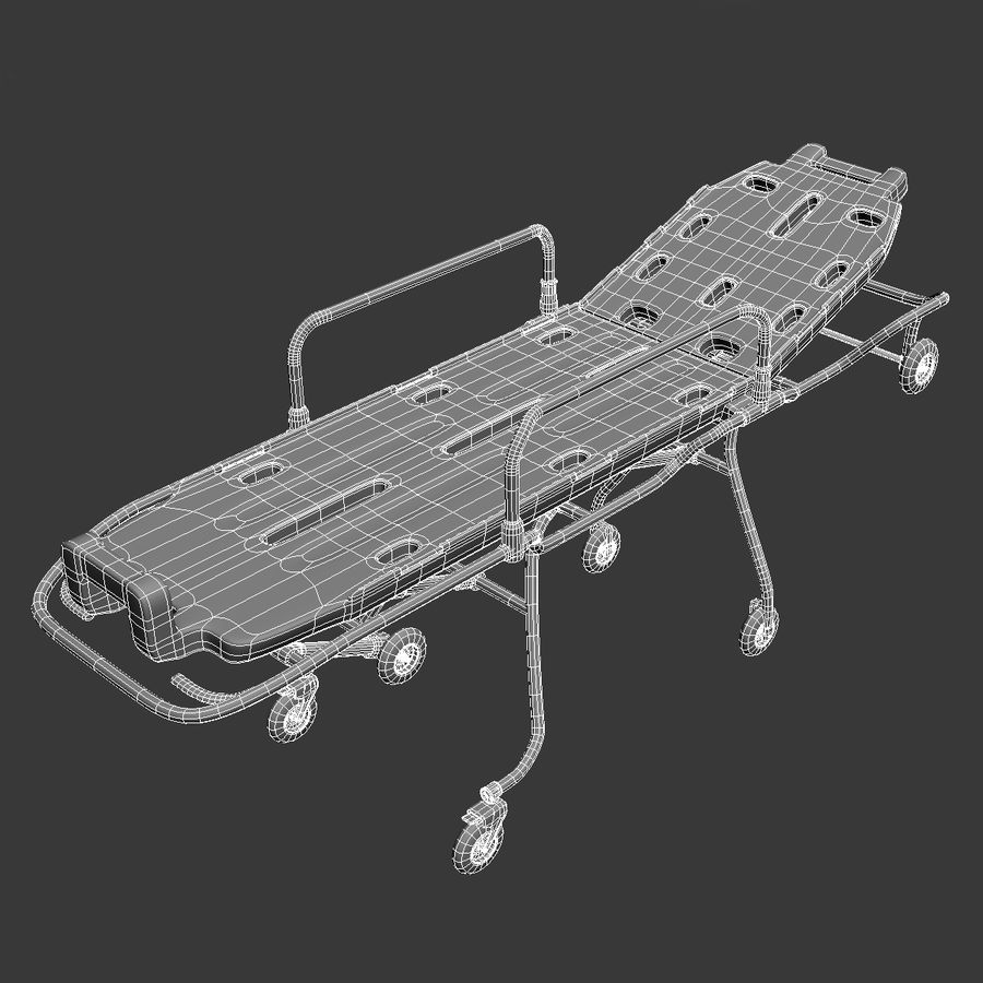Rollende brancard royalty-free 3d model - Preview no. 12