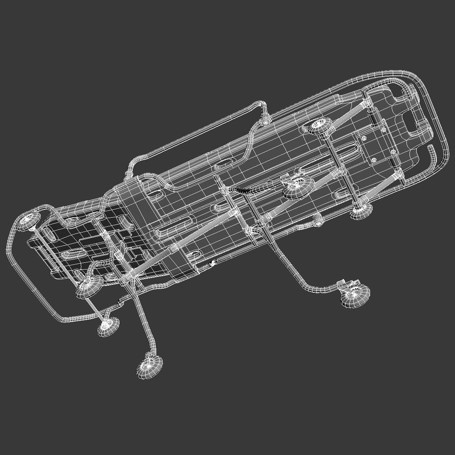 Rollende brancard royalty-free 3d model - Preview no. 13