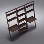 Crate & Barrel - Sloane Espresso 25,5 наклонный книжный шкаф с 2 столами 3d model