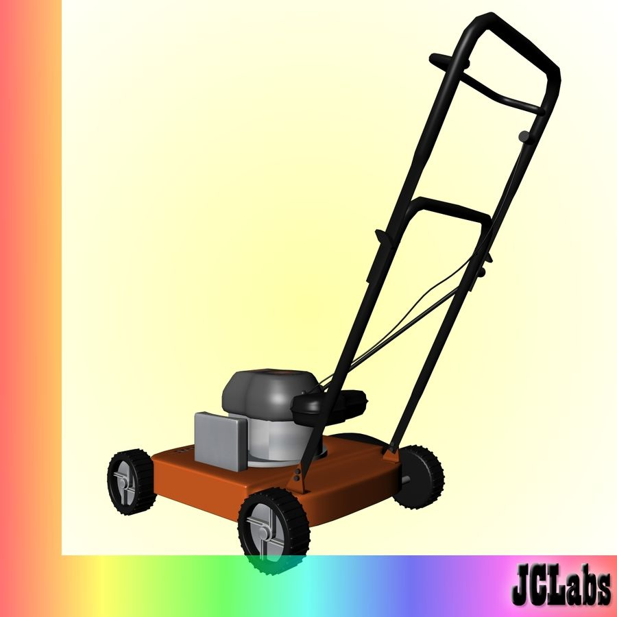 Lawnmower royalty-free 3d model - Preview no. 4