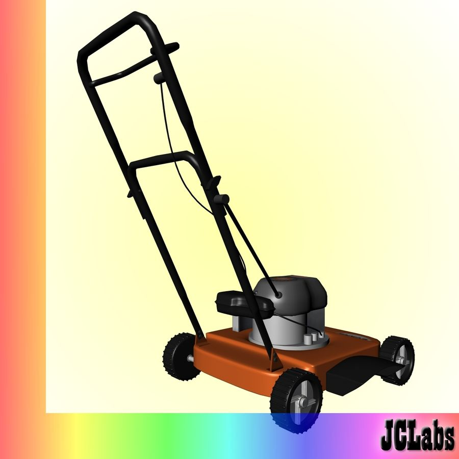 Lawnmower royalty-free 3d model - Preview no. 5